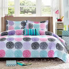 Mi Zone Audrina Polka Dot Comforter Set