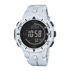 Casio® Pro Trek Tough Solar Triple Sensor Mens World Time Watch PRG300-7CR