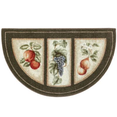fresh fruit washable wedge rug