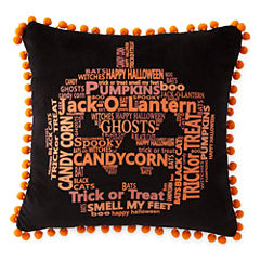 JCPenney Home™ Pumpkin Words Square Decorative Pillow