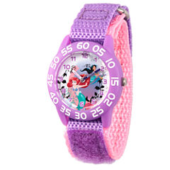 Disney Princess Disney Princess Girls Purple Strap Watch-Wds000170
