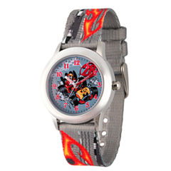 Disney Mickey Mouse Boys Gray Strap Watch-Wds000182