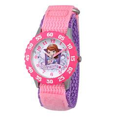 Disney Princess Sofia The First Girls Pink Strap Watch-Wds000270