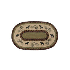Better Trends Whimsical Moose Print Braided Oval Rugs