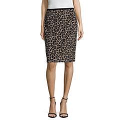 Liz Claiborne Leopard Print Pencil Skirt
