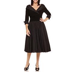 Jessica Howard 3/4-Sleeve Formal Party Dress