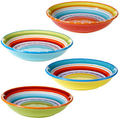Certified International Mariachi Set of 4 Pasta Bowls