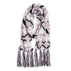 Muk Luks Tribal Oblong Geometric Cold Weather Scarf