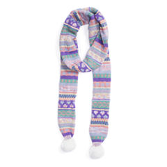 Muk Luks True Love Skinny Oblong Pattern Cold Weather Scarf