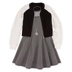 Total Girl Sleeveless Skater Dress With Jacket- Big Kid Girls