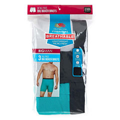 Fruit Of The Loom Breathable 2.0 3-pc. Boxer Briefs-Big