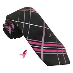 Susan G Komen Plaid Tie