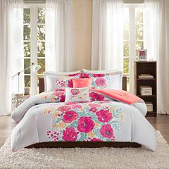 Intelligent Design Mina Floral Comforter Set