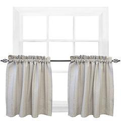 Park B. Smith® Eyelet Chambray Rod-Pocket Window Tiers