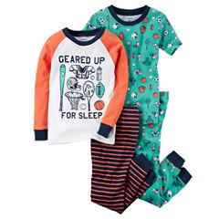 Carter's 4-pc. Kids Pajama Set - Toddler Boys