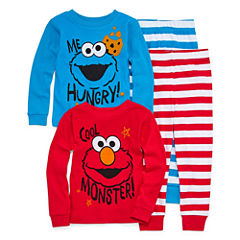 4-pc. Elmo Pajama Set Boys- Toddler