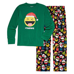 North Pole Trading Co. Merry Textmas Microfleece Family Pajama Set- Big Boy