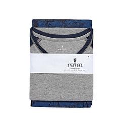 Stafford® Flannel Pajama Set- Big and Tall