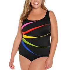 St. John's Bay One Piece Swimsuit Plus