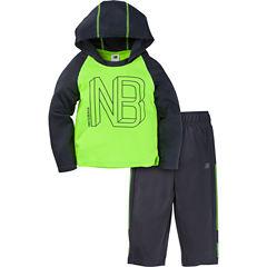 New Balance 2-pc. Logo Pant Set Baby Boys