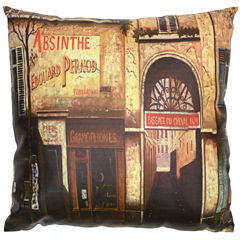 Oriental Furniture Parisian Café Throw Pillow