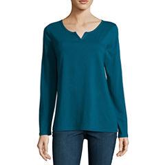 Sjb Active Long Sleeve Velvet Trim T-Shirt