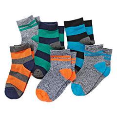 Okie Dokie® 6pk Low-Cut Socks - Boys 2-6