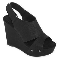 CL by Laundry Cutey Womens Wedge Sandals