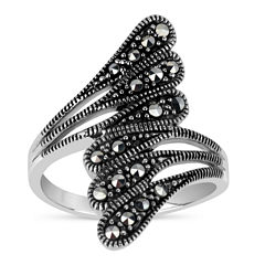 Swarovski Marcasite Sterling Silver Bypass Ring