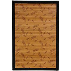 Oriental Furniture Little Leaf Bamboo Rectangular Rugs