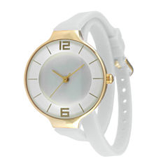 TKO ORLOGI Womens White Silicone Strap Wrap Watch