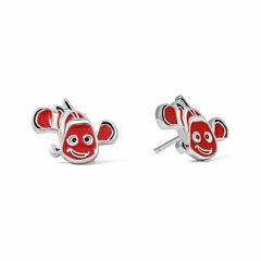 Disney Nemo Sterling Silver Enamel Stud Earrings