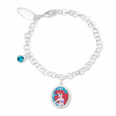 Disney Ariel Brass Charm Bracelet