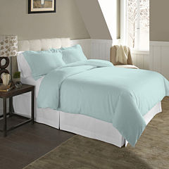 Pointehaven Solid Flannel Duvet Cover Set