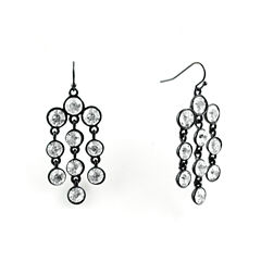 Liz Claiborne Clear Chandelier Earrings