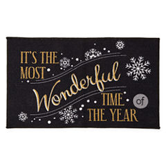 North Pole Trading Co. Wonderful Time Rectangular Rug