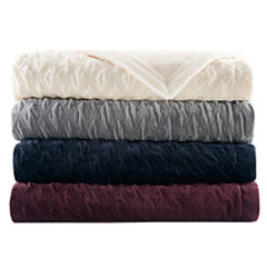 Bombay Victoria Textured Plush Bed Size Throw
