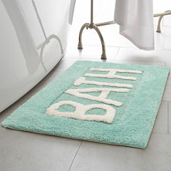 Creative Home Word Cotton 21x34 Bath Rug