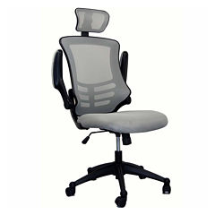 RTA Products LLC Techni Mobili Modern High Back Executive With Flip Up Arms Office Chair