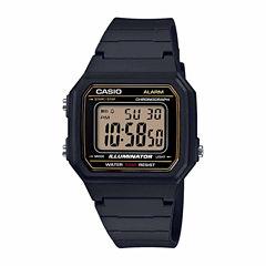 Casio Table Mens Black Strap Watch-W217h-9avpb