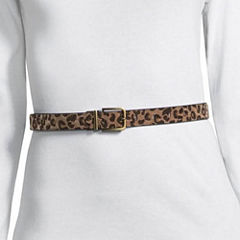 Libby Edelman Reversible Animal Print Metallic Reversible Belt