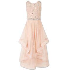 Speechless Embellished Sleeveless Peasant Dress - Big Kid Girls