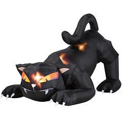 Animated Airblown Black Cat w/turning head