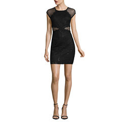 by&by Short Sleeve Bodycon Dress-Juniors