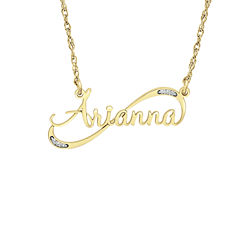 Womens Personalized Diamond Accent Pendant Necklace