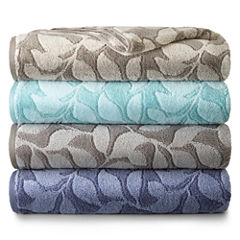 JCPenney Home Jacquard Leaves  Bath Towel Collection