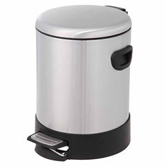Home Zone 5-Liter Round Trash Can With Dome Lid