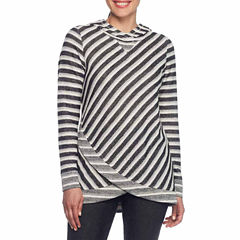 Lark Lane Salt And Pepper 3/4 Sleeve Sweatshirt