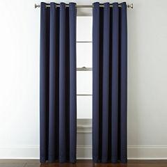 Liz Claiborne® Kathryn Room-Darkening Grommet-Top Curtain Panel