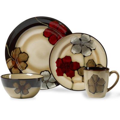 Pfaltzgraff® Painted Poppies 16 Pc. Dinnerware Set